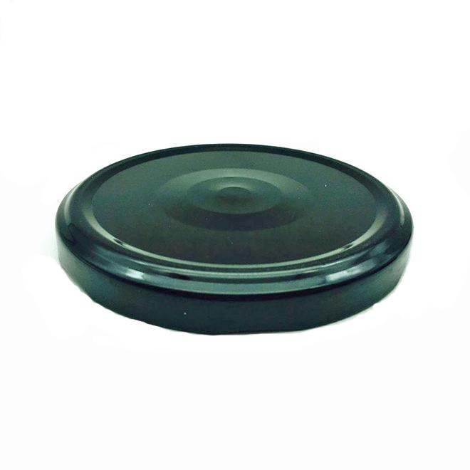 82mm siyah pop emniyet düğmesi metal konserve kavanoz kapağı için kapalı kapak büküm