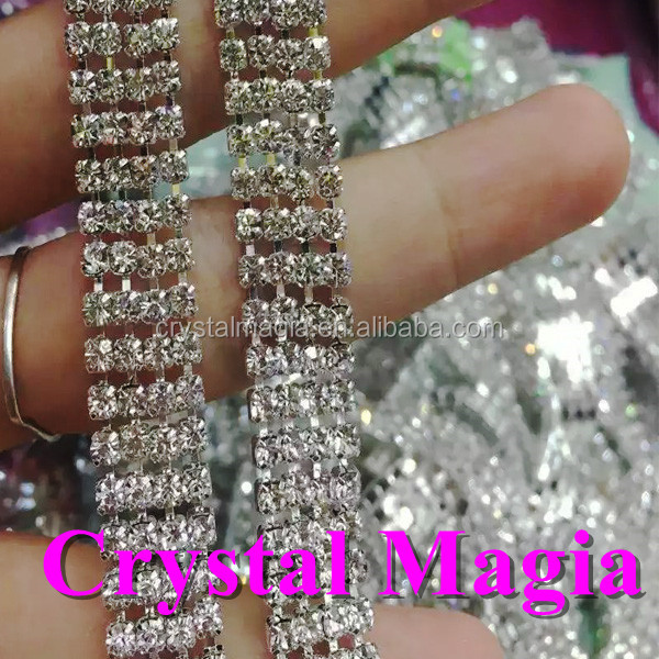 bling rhinestone chain trim 2016 metal claw setting rhinestone chain on sale
