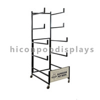 Pet Products Retail Store Merchandising Counter Top 5-Layer Metal 6Mm Wire Pet Bed Display Rack