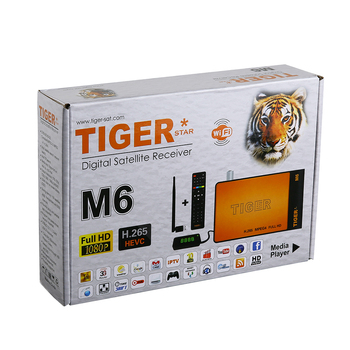 Tiger Star New Product M6 Now hot selling With one year iks ,one year kids movie ,one year top ten and support iptv box