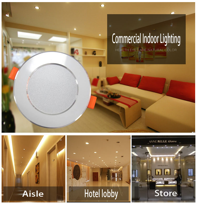competitive advantage integrated recessed led downlights 12w price list