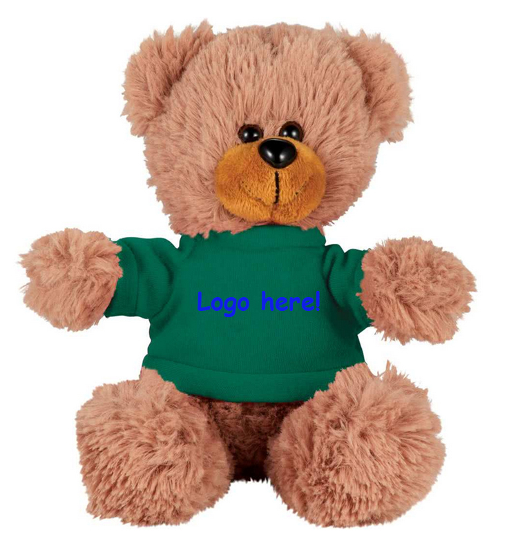 China Factory wholesale plush teddy bear 20cm with printed logo on T-shirt Promotional peluches plush stuffed custom teddy bear