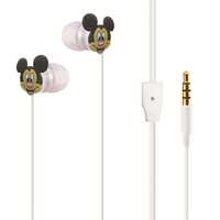 2017 Hot Selling Promotion Mini Wired MP3 Earbuds Mickey Mouse Style Earphones