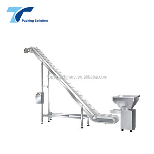 Customized Hopper and Discharge Chute Inclined Belt Conveyor