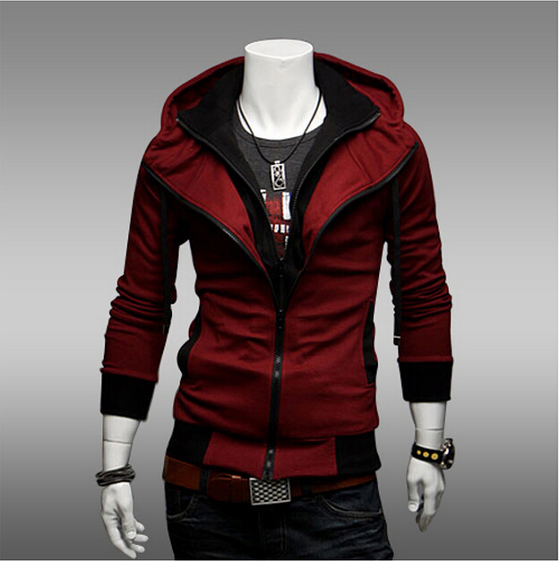 Plus size Sports Hooded Jacket Casual Winter Jackets hoody sportswear Assassins Creed Men s Clothing Hoodies