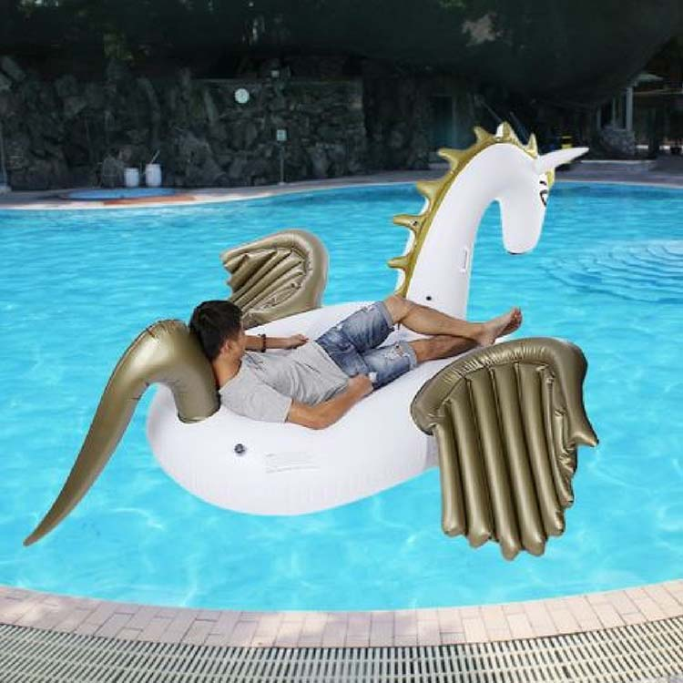 Giant unicorn swimming float/colorful water bed summer beach pool party