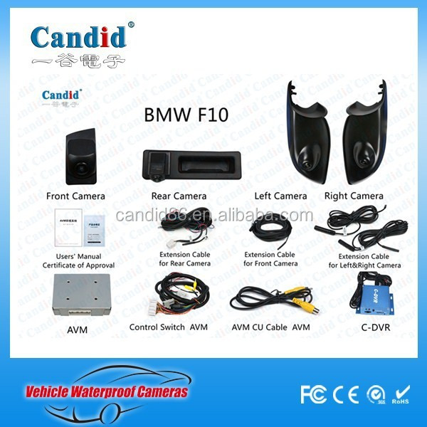 car aerial view parking system surround view camera system for F10