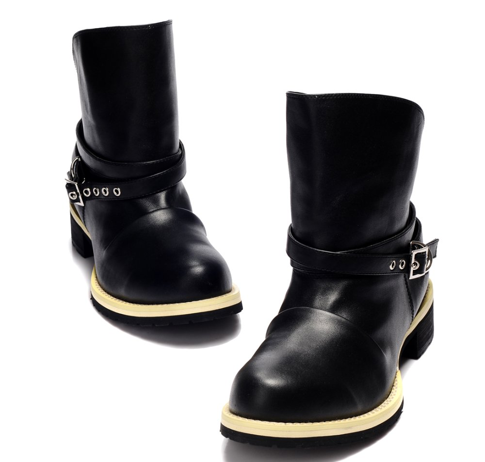 Watch! 2012 mens boots fashion genuine leather rainboots