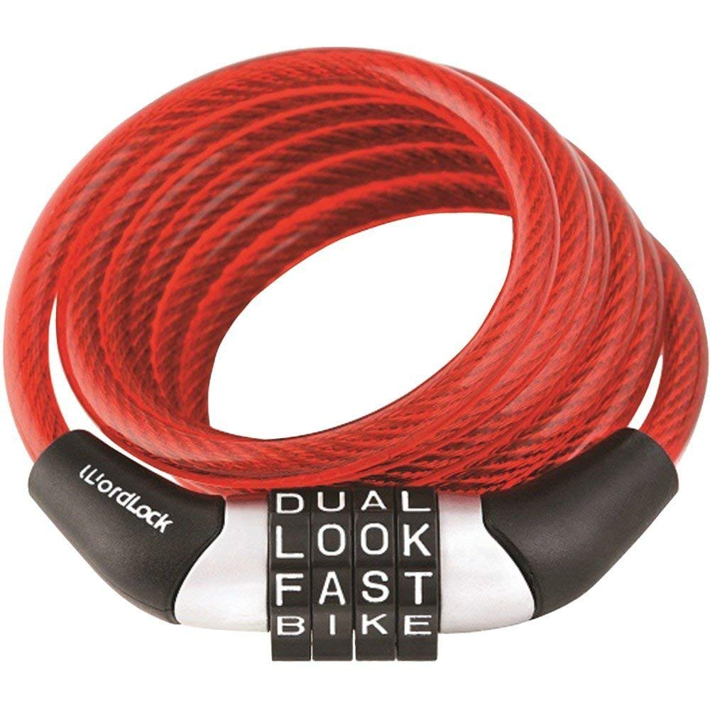 Holovachuk Combination Non-Resettable Cable Lock (Red), Cable Lock, Combination Non-Resettable Cable Lock (Red), Combination Non Resettable Cable Lock Red Bike Safety Letter Password New