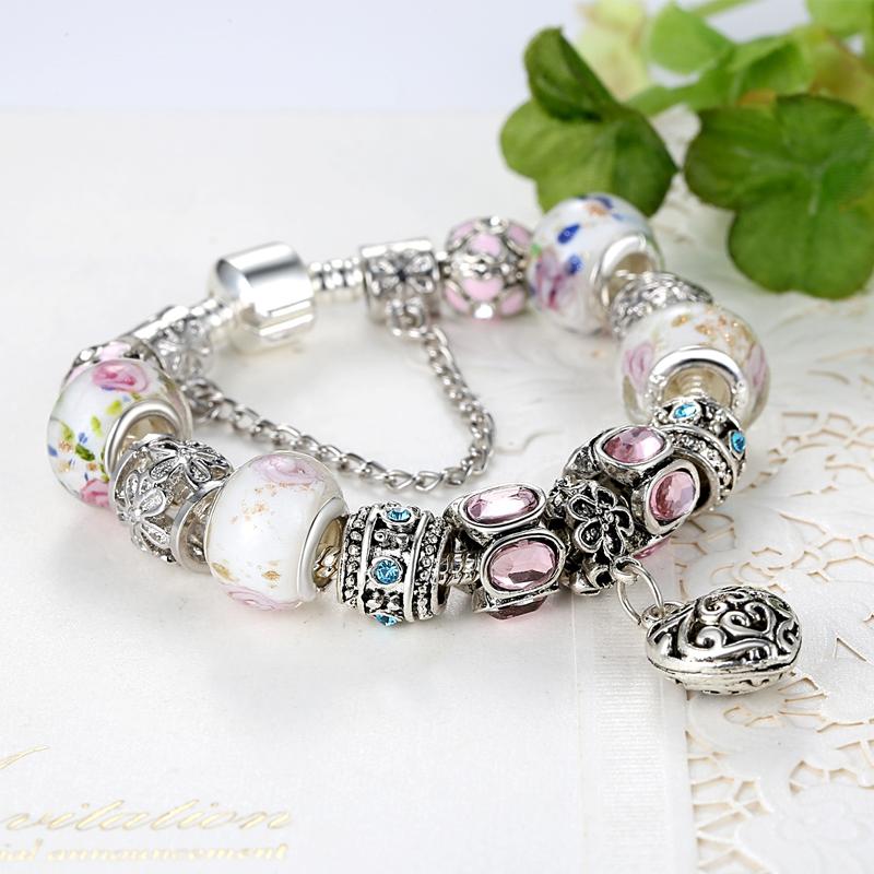 2015 высокое качество подвески бусины подходят пандора браслет 925 серебряный кристалл бусины мода браслеты и браслеты для женщин PS3043
