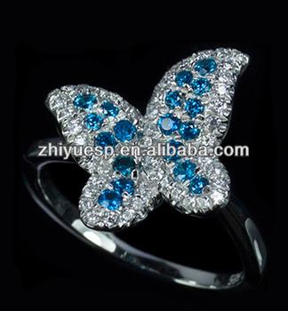Silver Gemstone Sapphire Butterfly Ring Buy Butterfly
