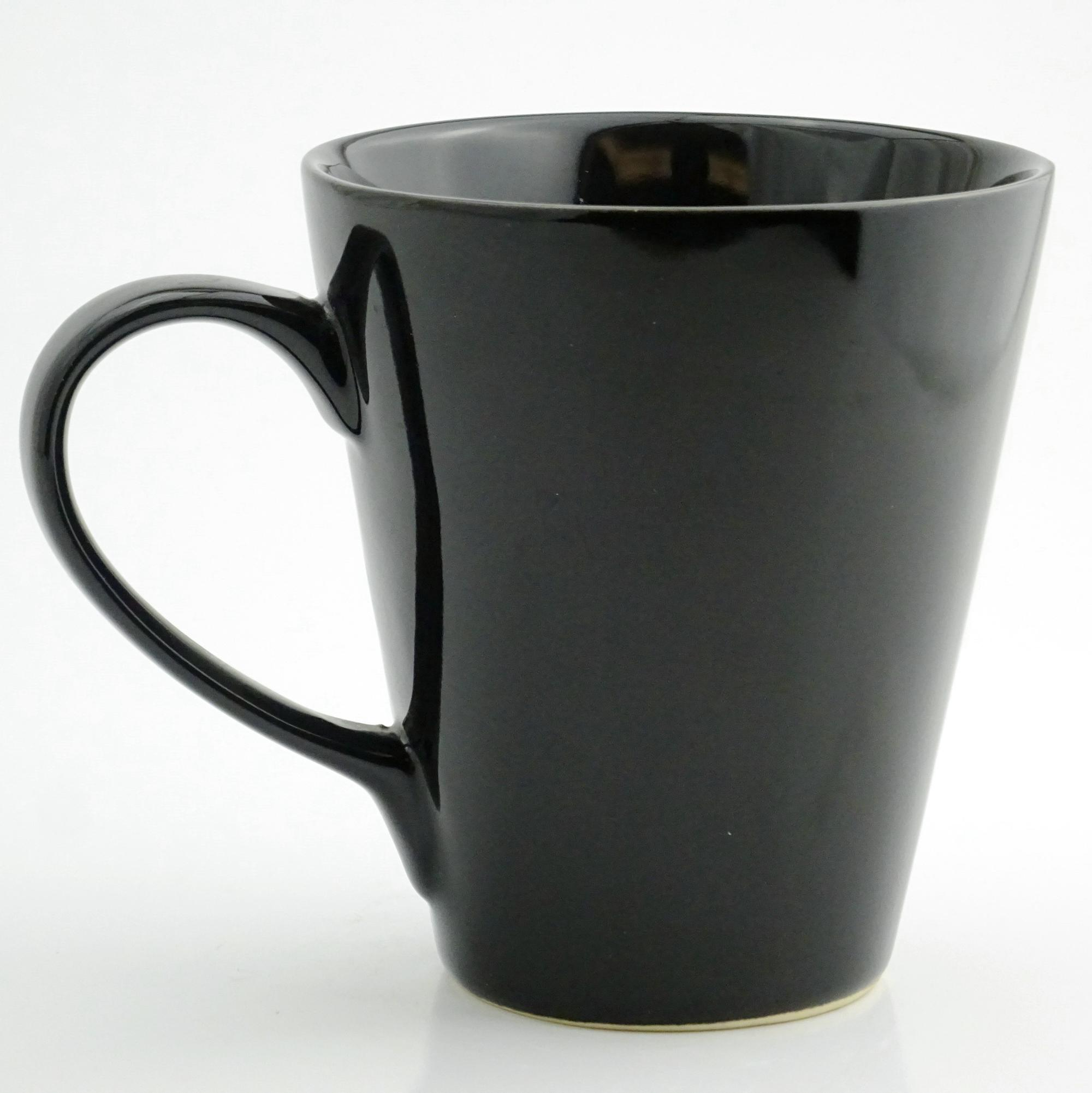 Ceramic Plain Coffee Mugs Black Mug