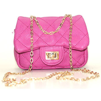 8ac14cb06dee Fashion Pink PU leather girls small bags and purse