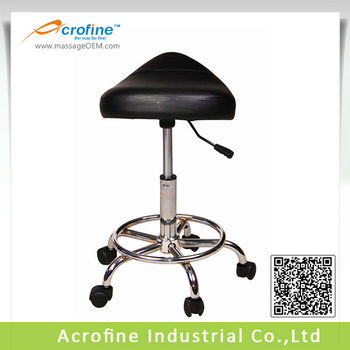 Clinic Saddle Stool with Chromed Base