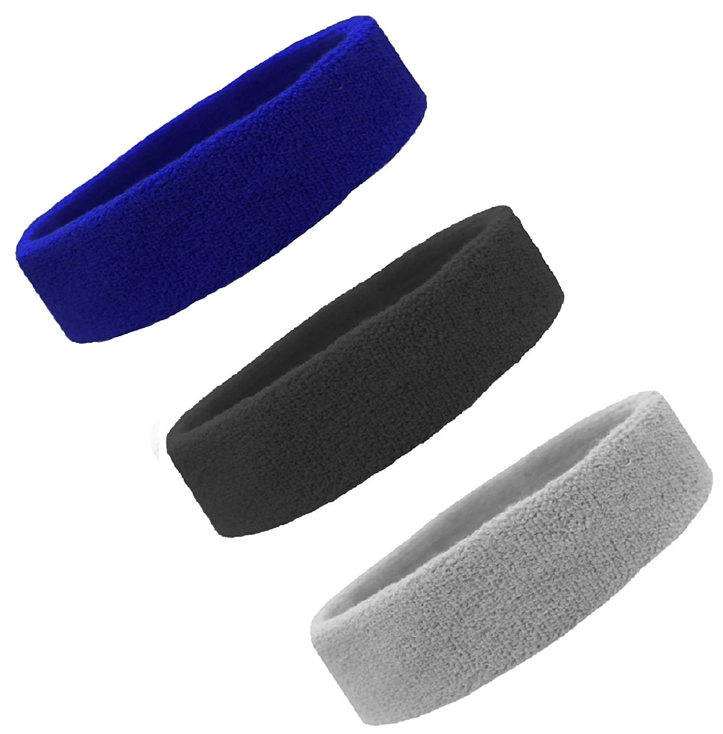 """All Sport Ladies/' Workout Gym Headband 2"""" wide Stretch  Double-layer band W7000"""