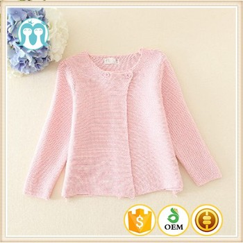 2d611b1c8bcad wholesale Kids cardigan sweater stylish simple wool handmade sweater design  for girl