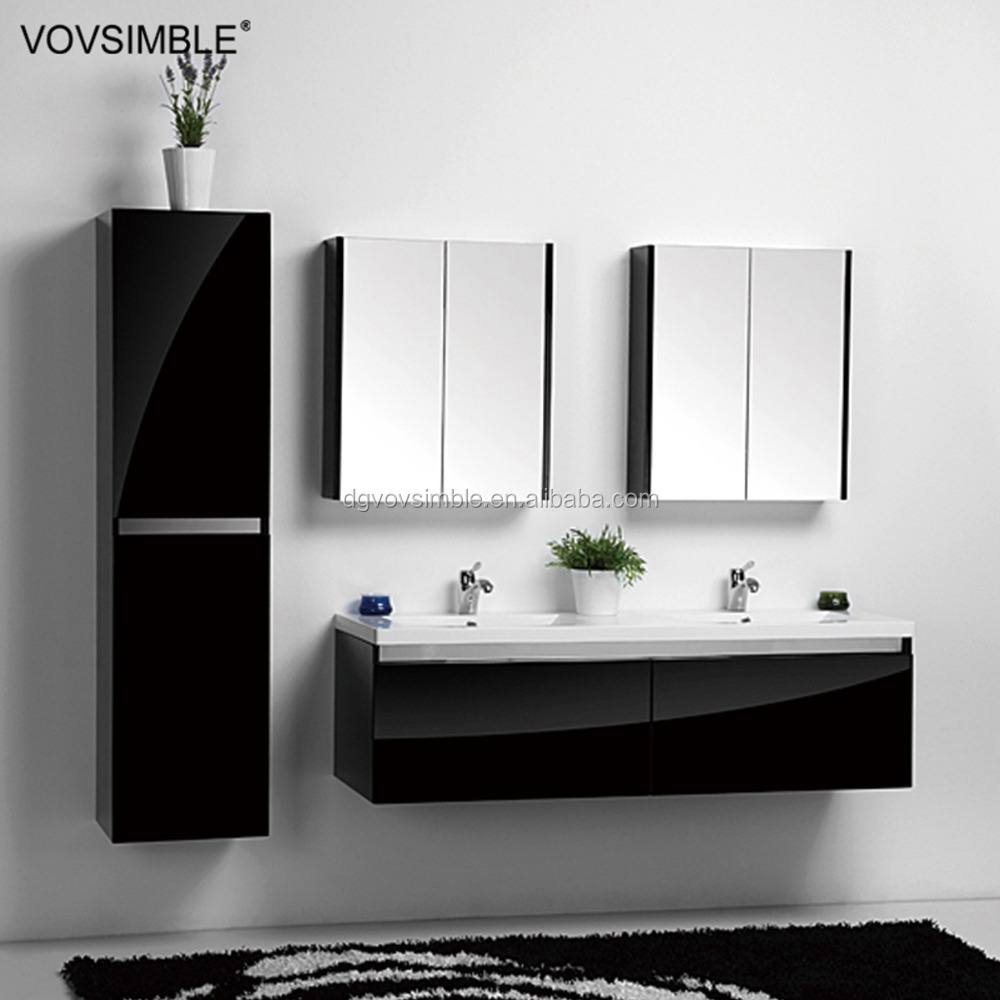 High Gloss Black Finish Bathroom Vanity Wholesale, Bathroom Vanity ...