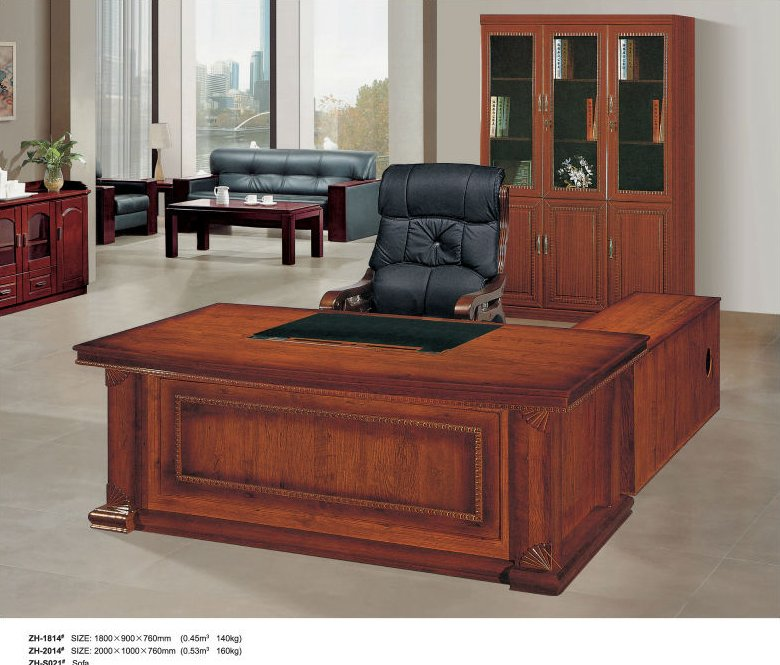Luxury design wooden office desks for office ZH-1814#