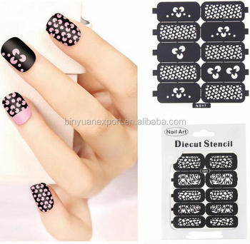 Bin hollow nail stencil stickers nail art stamp template stickers bin hollow nail stencil stickers nail art stamp template stickers prinsesfo Image collections