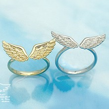 LZ Jewelry Hut R247 R248 The 2016 New Wholesale Hot Selling Vintage Alloy Wings Cheap Rings