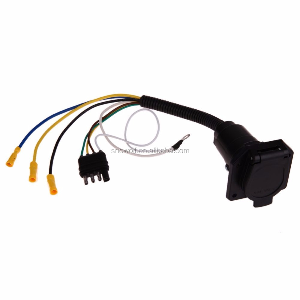Winner Eco 4 Way To 7way Flat Electrical Adapter Trailer Wire Wiring Harness Ha Plug Electrics 7pin Socket Connector Buy