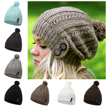 <span class=keywords><strong>Mode</strong></span> nieuwe winter gebreide <span class=keywords><strong>beanie</strong></span> haak knop pomponmuts