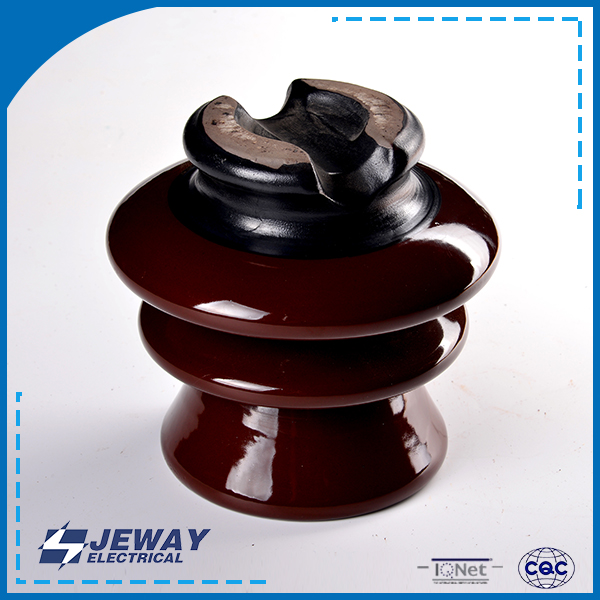P-11-Y porcelain electrical Exported ceramic pin type 11KV brown power transmission isolator