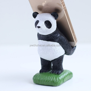 panda mobile phone stand sucker resin phone holder
