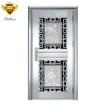 Modern Front Steel Door Design Residential Stainless Jh530 For India