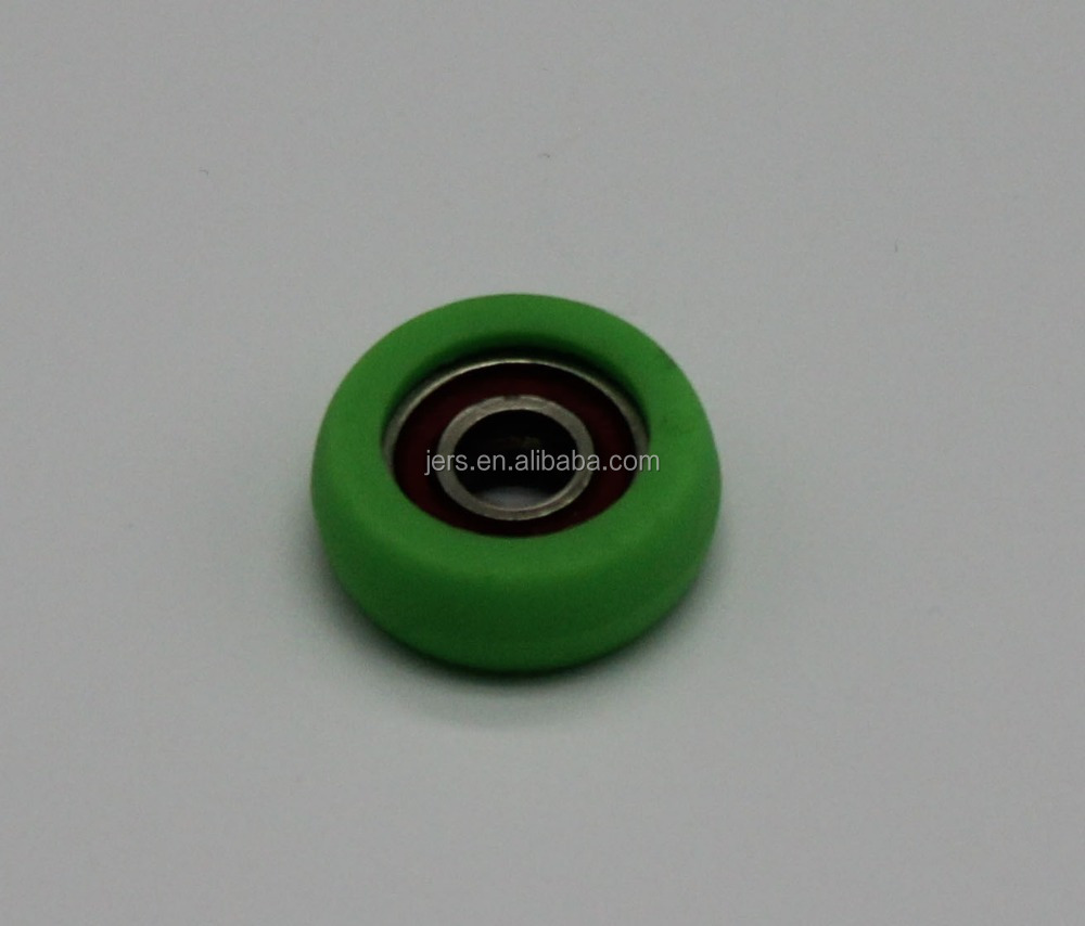 hot sales rolle green color single convex roller plastic window roller wheel with