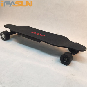 800W Hub Motor Boosted Power Custom Electric Skateboard Offroad Price Wheels Blank Canadian Maple Electric Skateboard
