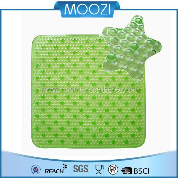 Unique Antli Slip Mat,Light Green Unique Bath Rug/Foot Mat