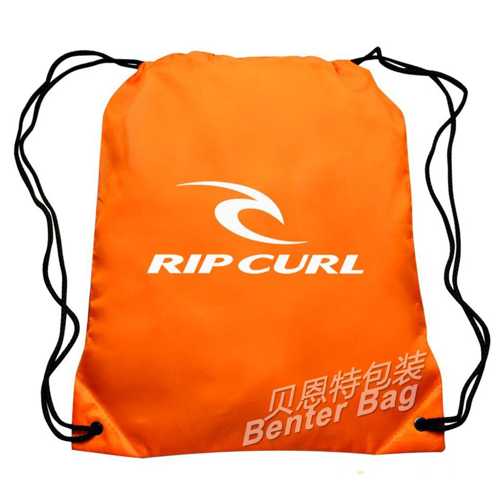 promotional polyester strong drawstring scjool backpack, sac bag, sports bags with custom print