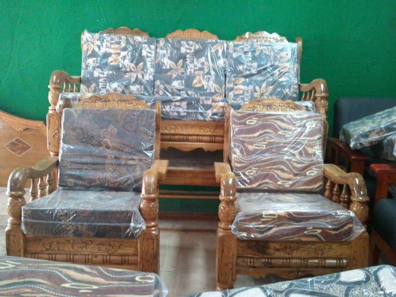 Pure Assam Teak Wood Sofa Set 3 1 1