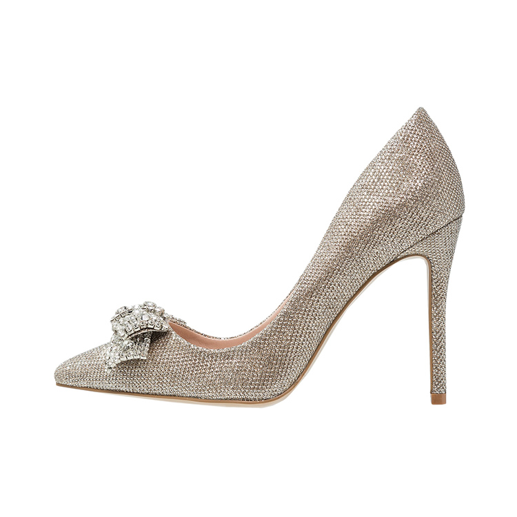 sparkling high women safety shoe ladies heel diamond stiletto 2018 latest EqZa00T