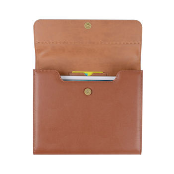 PU Leather File Bags with Card Slot File Holder Document Organizer Office Accessories Expanding File Folder