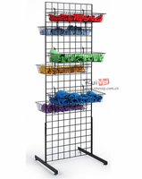 customized metal wire mesh display racks and stands with basket