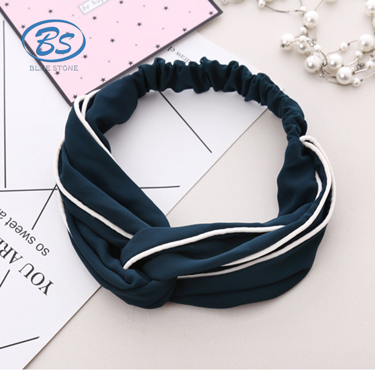 HB004 Wholesale Fashion Wide Stretch Headbands Women Elastic Hairbands Girls Beach Wide Yoga Headband Hair Accessories