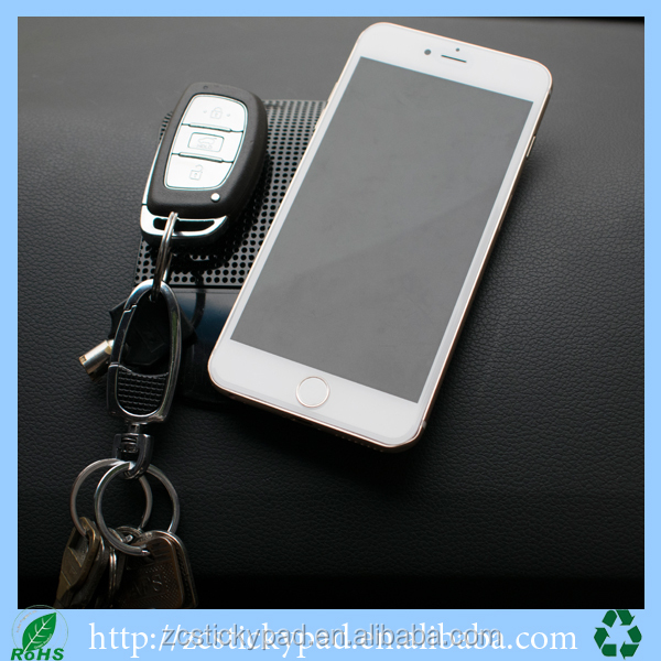 Powerful Magic Sticky Gel Mobile Phone Anti slip Pad on dashboard