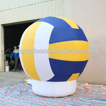 Personalized giant inflatable volleyball for display