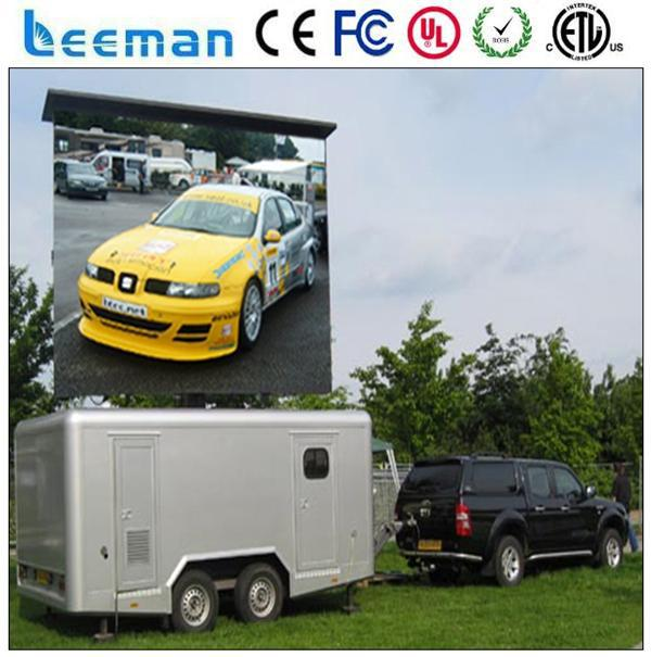 led mobile truck display screens led solar traffic warning signs vms trailer Leeman P10 mobile truck led billboard
