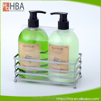 Iron basket packaging wholesale fresh fragrance hand wash liquid soap
