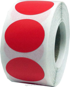 Factory Custom Round Color Coding Dot Label - Bulk Pack - One Roll Each Red, Yellow, Green, Blue, Orange - 500 Per Color