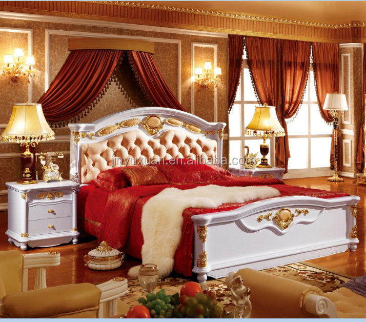 Factory Offer White Polish Paint Bedroom Furniture Set 3003 Royal Sets Bed Product On Alibaba
