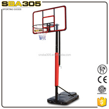 height adjustable indoor basketball stand with basketball ring