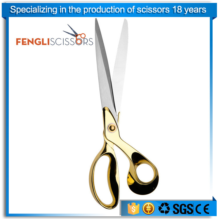 Professional gold handle stainless steel tailor shears