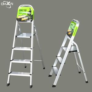EN131 High Quality Low Price Household Aluminum Alloy Folding Step Ladder 3 4 5 6 7 8 9 Steps