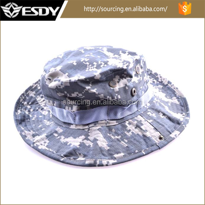 Military Unisex Outdoor Cap plain Bucket hat Fishing Hat ACU