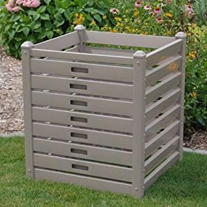 Dura-Trel 11234M 10 Cubic Feet Compost Bin, Mocha