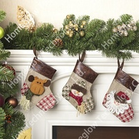 Factory wholesale hanging decoration bulk christmas stockings in full stock